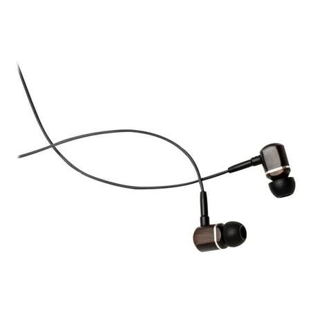 Symphonized MTRX In-Ear Wood Headphones - Earphones with mic - in-ear - wired - 3.5 mm jack - black