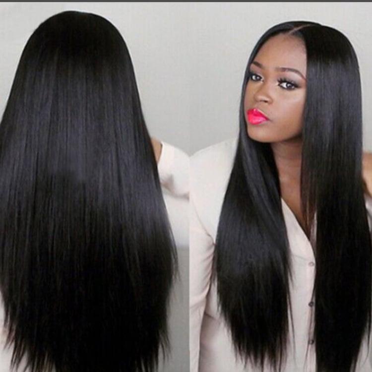 Cross Border Wig Wig Black Long Straight Hair Center Point Straight Hair Long Hair Wig Cover High Temperature Silk Wig Europe And America Dark Walmart Canada