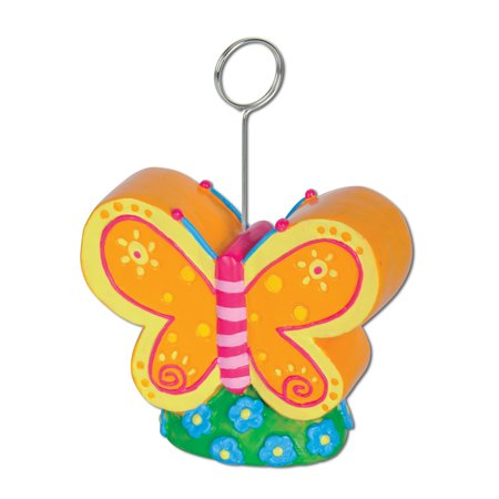 Pack of 6 Multi-Colored Butterfly Photo or Balloon Holder Party Decorations 6 oz.