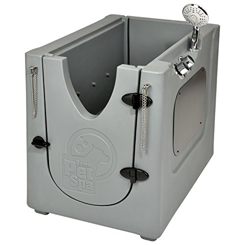 Pet Wash Enclosure with Removable Shelf & Wheels