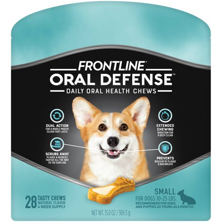 Frontline Oral Defense Dental Chews for Small Dogs, 28 Chews