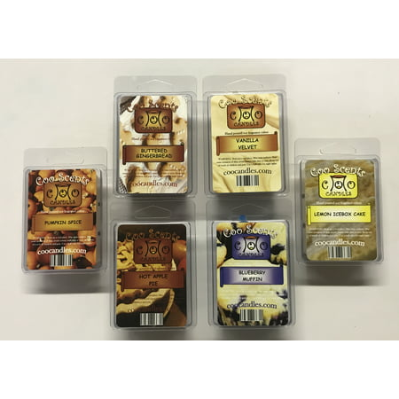 Publix Bakery Halloween Cakes (6 Pack Soy Wickless Candle Wax Bar Melts - Bakery Pack. Hot Apple Pie, Buttered Gingerbread, Pumpkin Spice, Vanilla Velvet, Blueberry Muffin and Lemon Ice Box)