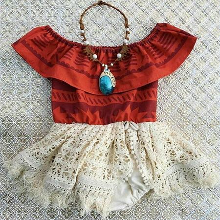 Fancy Dress Online Next Day Delivery (Toddler Baby Girls Moana Costume Polynesian Princess Fancy Dress Sundress)