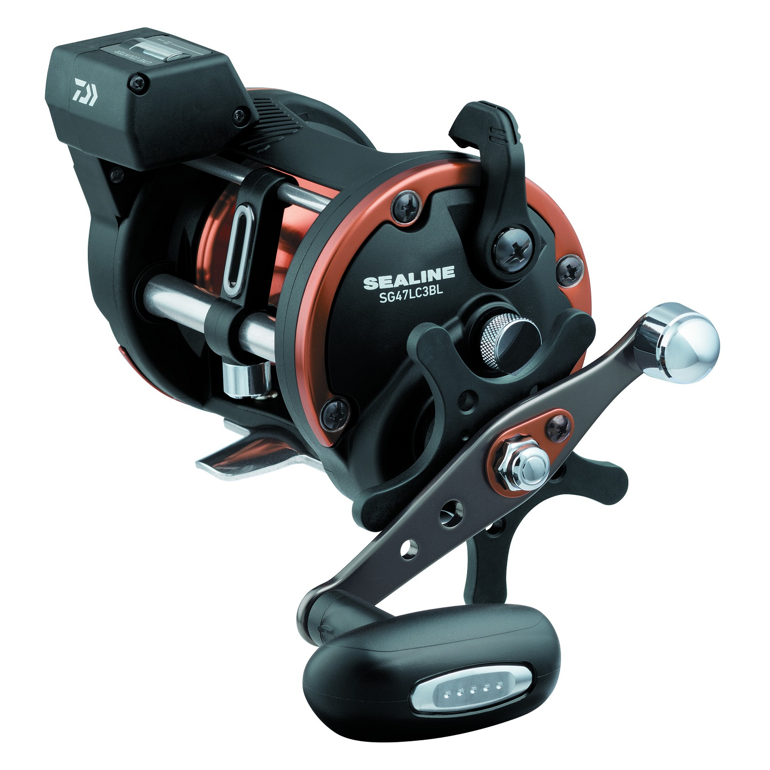 Daiwa Sealine SG-3B 4.2:1 Line Counter Conventional Reel, Right Hand, Dual Paddle Handle - SG27LC3BW