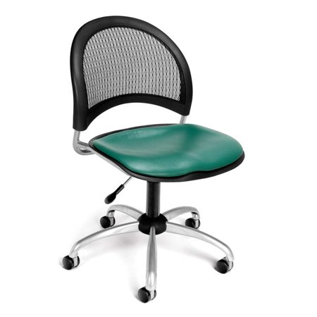 OFM Moon Faux Leather Swivel Office Chair In Teal