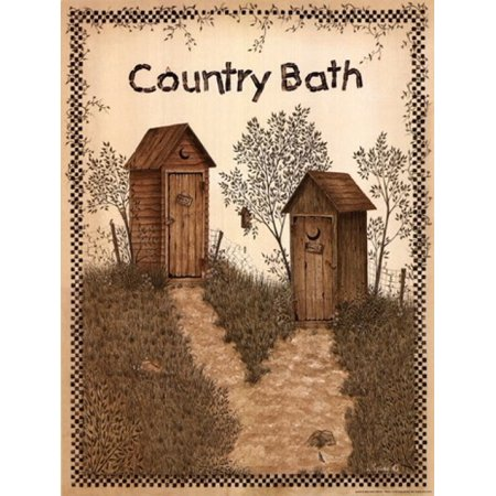 His and Hers Outhouses Poster Print by Linda Spivey (12 x 16) Linda Spivey Sunflowers