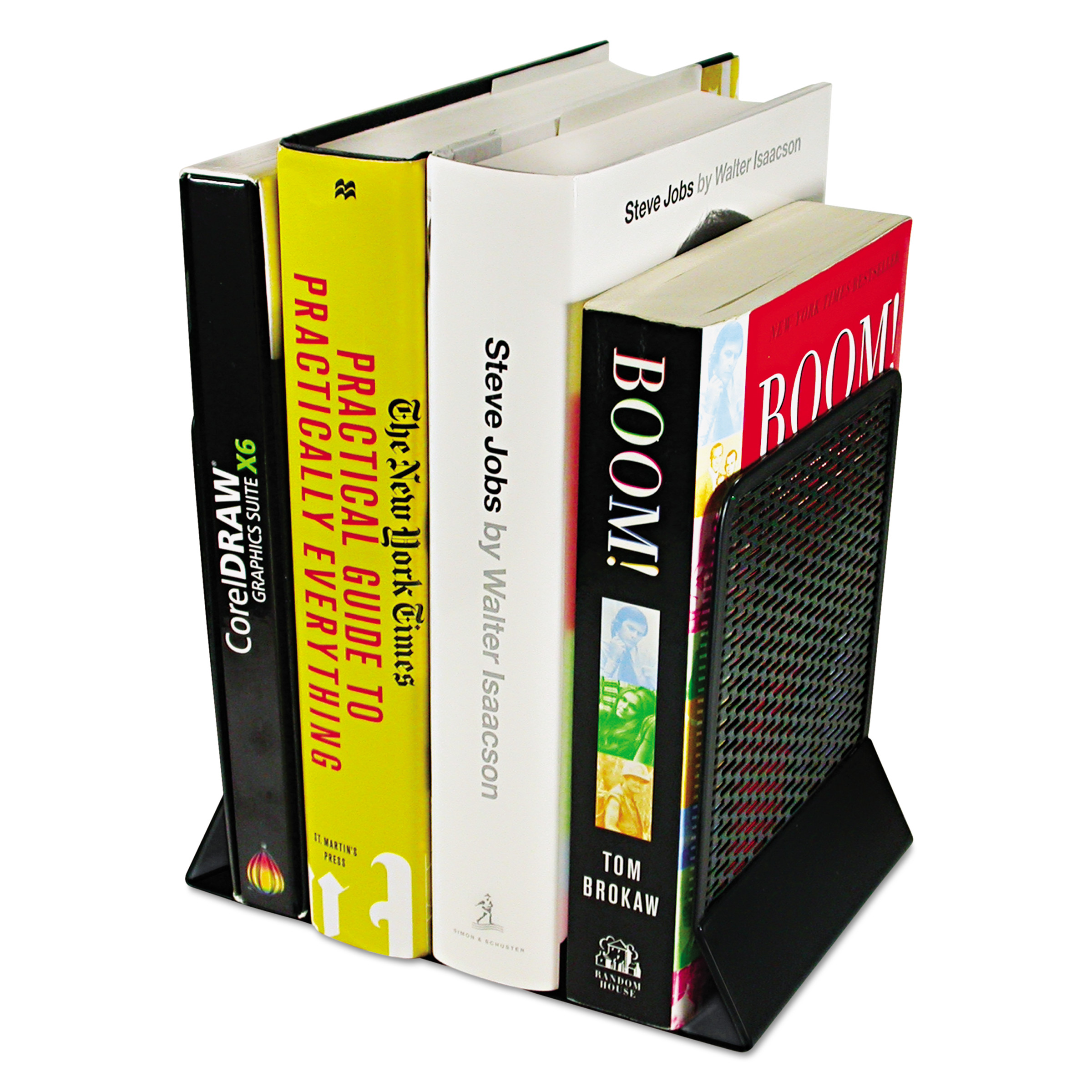 Artistic Urban Collection Punched Metal Bookends, 6 1/2 x 6 1/2 x 5 1/2, Black -AOPART20008