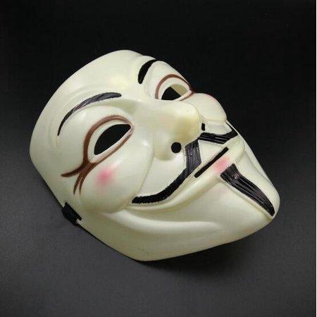 Urparcel Carnival Props V Word Vendetta Mask - V Is For Vendetta Mask
