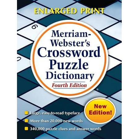 - Merriam-Webster's Crossword Puzzle Dictionary