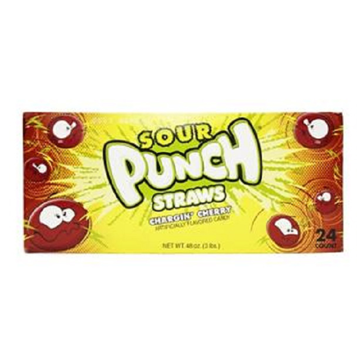 Product Of Sour Punch, Straws, Chargin Cherry, Ct 24 (2 Oz) - Sugar Candy / Grab Varieties & Flavors
