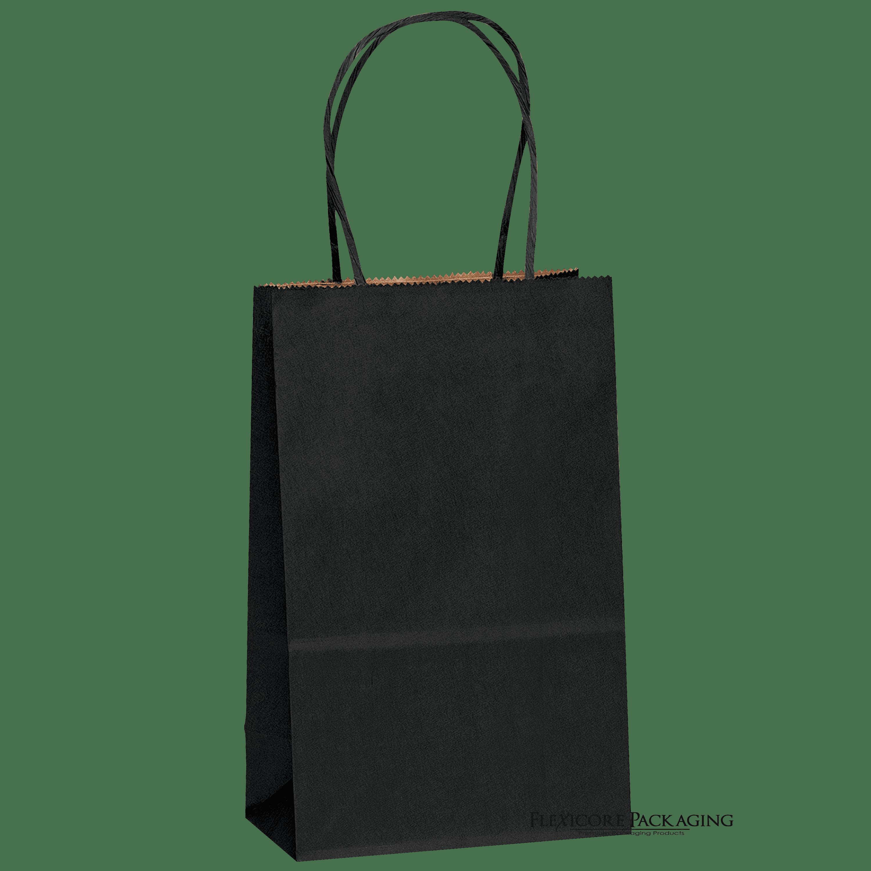 Black Kraft Paper Bags 525x35x825 100ct Walmartcom