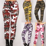 Fashion Women Casual Sport Camouflage Pants Gym Workout Army Camouflage Trousers