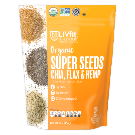 BetterBody Foods Super Seeds Chia, Flax, and Hemp 1.0