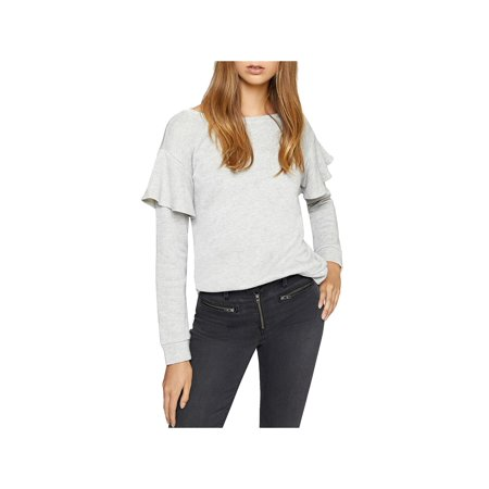Sanctuary Womens Dominique Metallic French Terry Sweatshirt