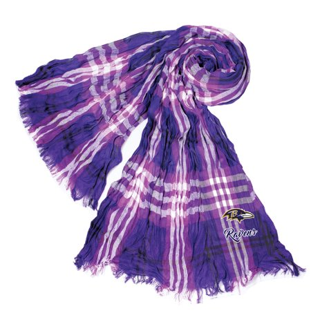 Little Earth - NFL Crinkle Plaid Scarf, Baltimore Ravens Baltimore Ravens Jersey Scarf
