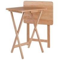 Winsome Wood Alex 2-Piece Snack Table Set, Natural Finish