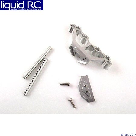 GPM Racing SMT293208 Losi Mini-T Silver Aluminum Extended Body Mounts