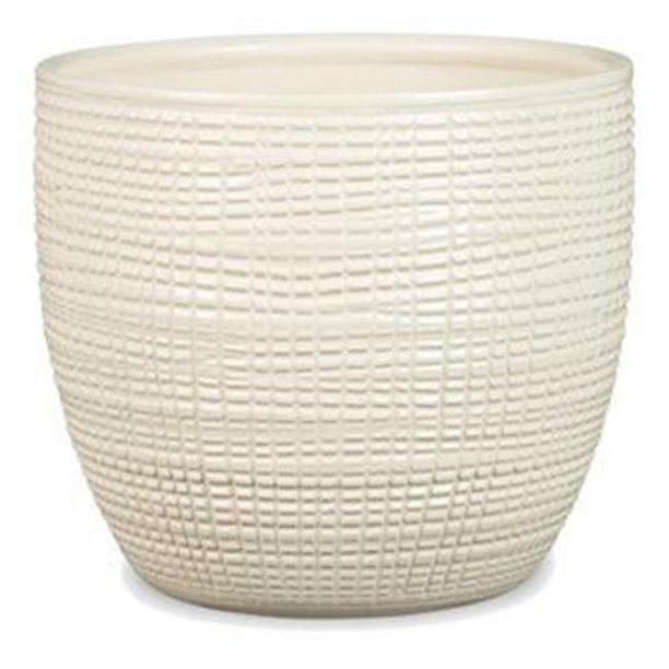 Scheurich USA 256520 4.75 x 5.5 in. Ceramic Indoor Planter, Vainilla White - Pack of 5