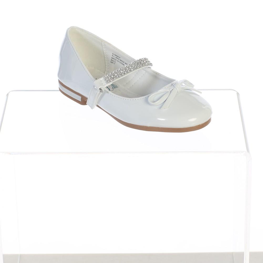 Swea Pea /& Lilli New Girls Flats with Rhinestones Strap Mary Jane Dress Shoes