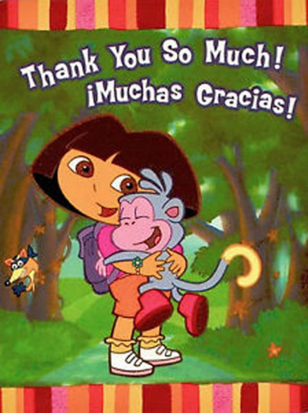 Dora the Explorer 'Fiesta' Thank You Notes (8ct) by