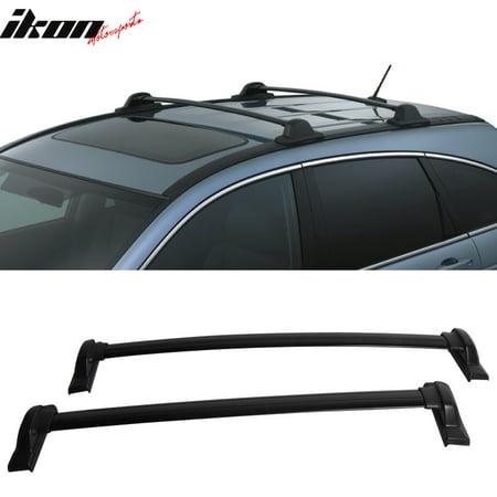 - Fits 07-11 Honda CRV OE Factory Style Roof Rack Cross Bar Black 2Pc