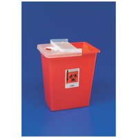 Sharpsafety sharps container with hinged lid, red 18 gallon part no. 8991 (1/ea)