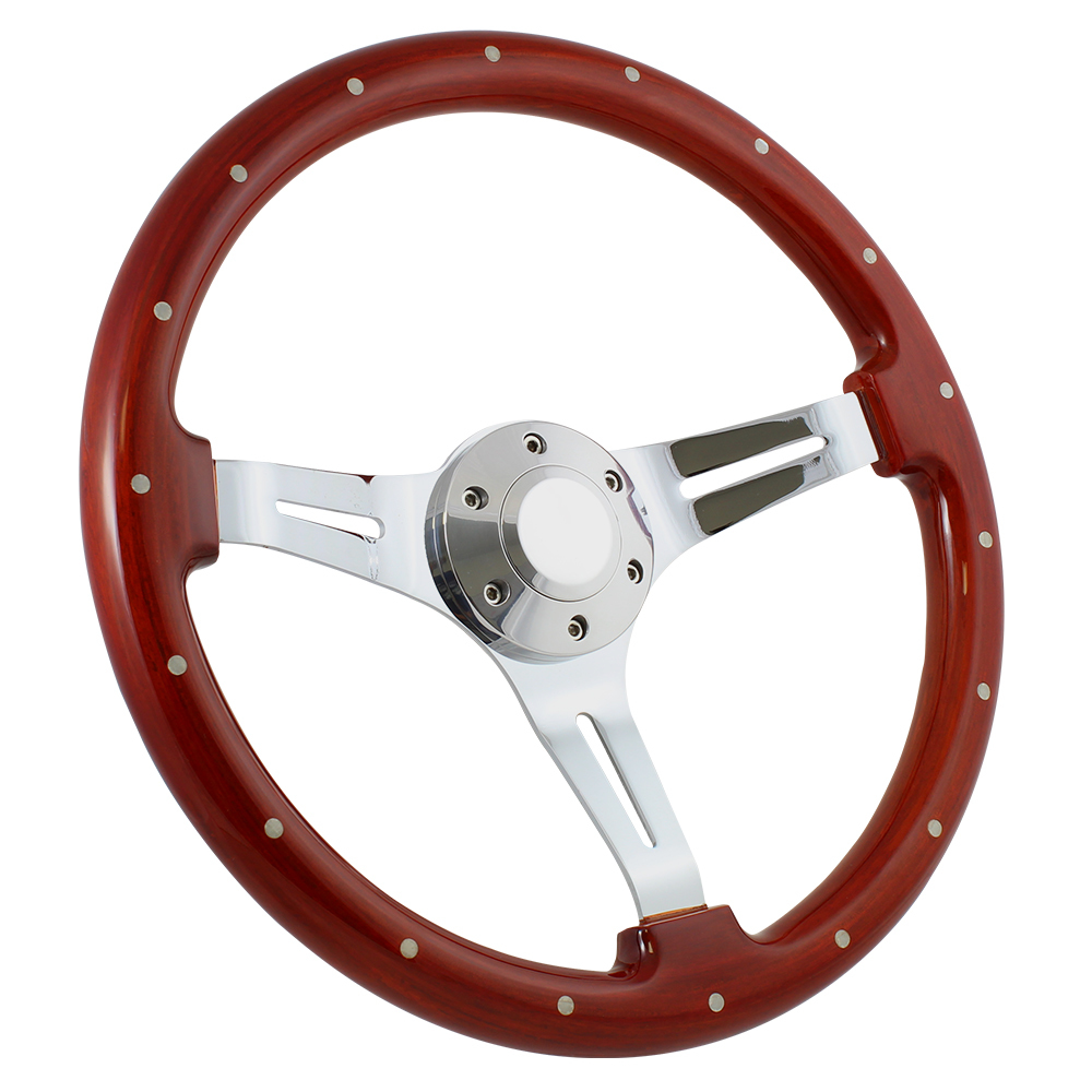 "70-79 Ford Ranchero 14"" Wood Billet Polished Steering Wheel Set Adapter & Horn"