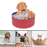 EOTVIA Pet Bathing Tub,  Dogs Bathing Tub,Foldable Pet Dogs Cats Bathing Tub Portable Swimming Pool Home Indoor Outdoor