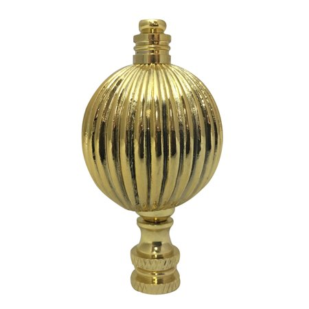 Royal Designs Balloon Shaped Lamp Finial for Lamp Shade- Polished Brass (Balloons Shapes)