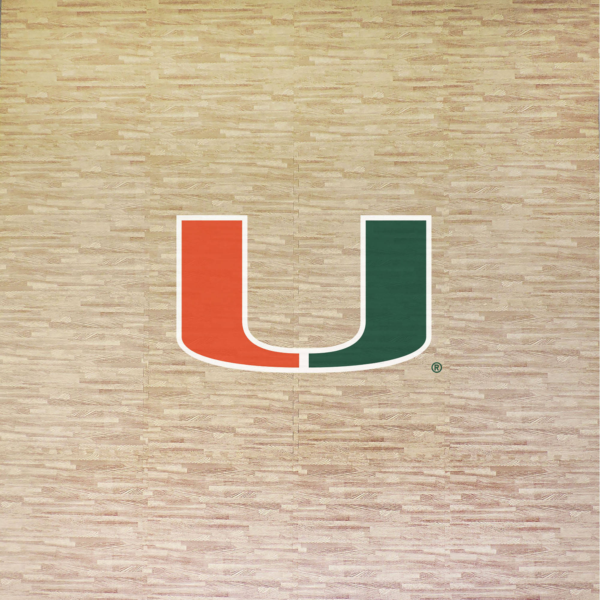 University of Miami Portable Foam Puzzle Tailgate Floor Mat by