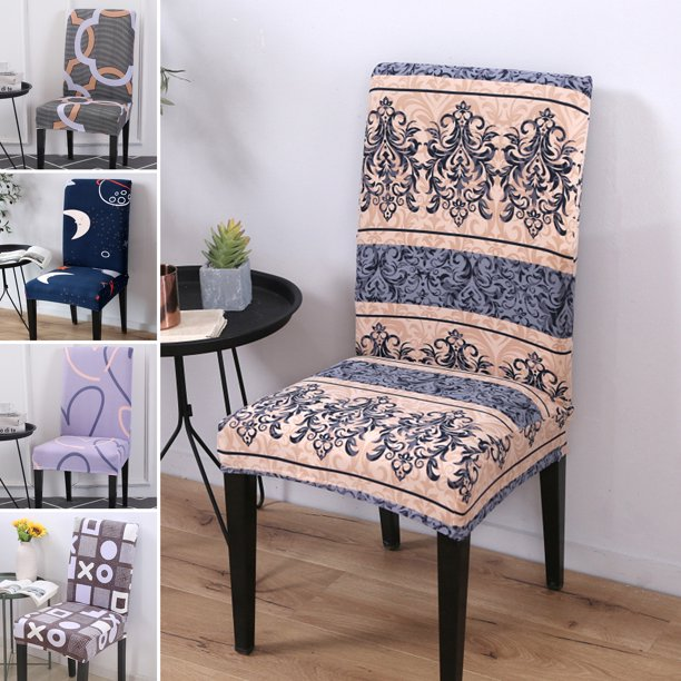 1 8 Pcs Elastic Dining Chair Covers Slipcovers Kitchen Chair Protective Covers Banquet Walmart Com Walmart Com