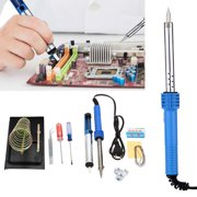 New 14 in1 60W 110V Electric Soldering Tools Kit Set Iron Stand Desoldering Pump