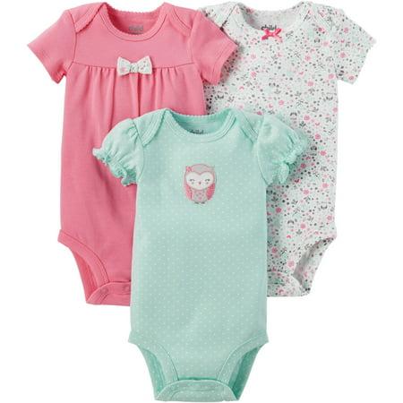 Child of Mine by Carter's Newborn Baby Girl 3 Pack Bodysuit