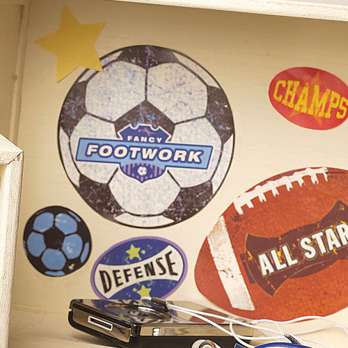 Wallies Sports Stamps Wall Decal (Set of 4)
