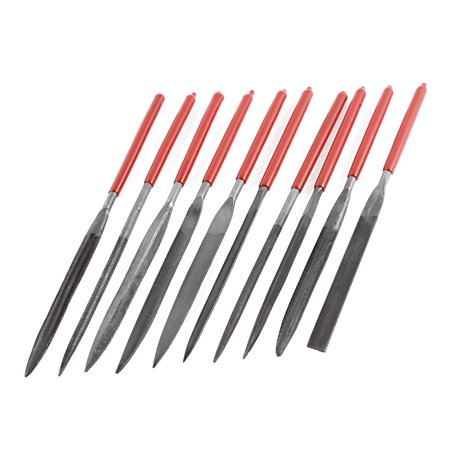 4mm x 160mm Hand DIY Tool Tapered Triangle Square Needle File Kit 10 Pcs