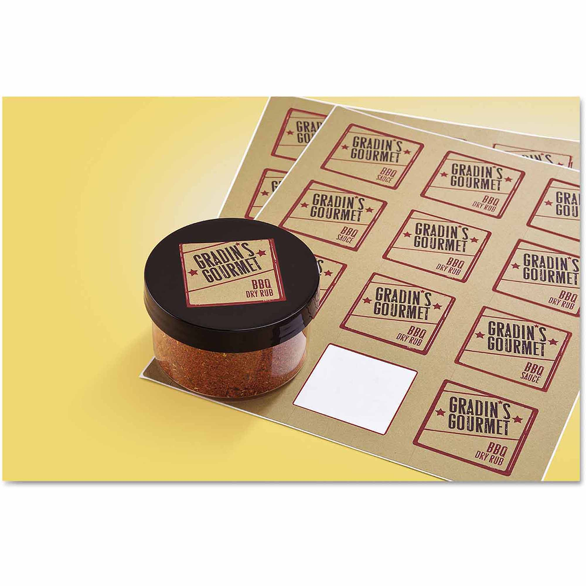 "Avery Square Print-to-the-Edge Labels with TrueBlock, 2"" x 2"", Kraft Brown, 300-Pack"