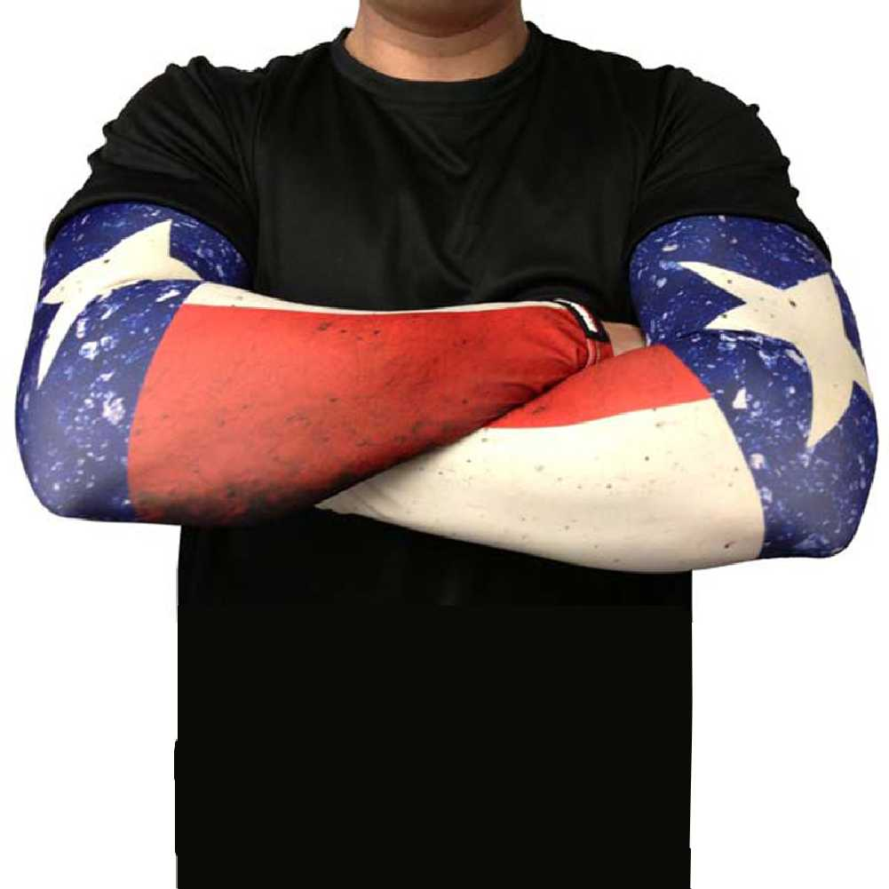 Missing Link SPF 50 Republic of Texas ArmPro Tattoo Compression Sleeves - APROT