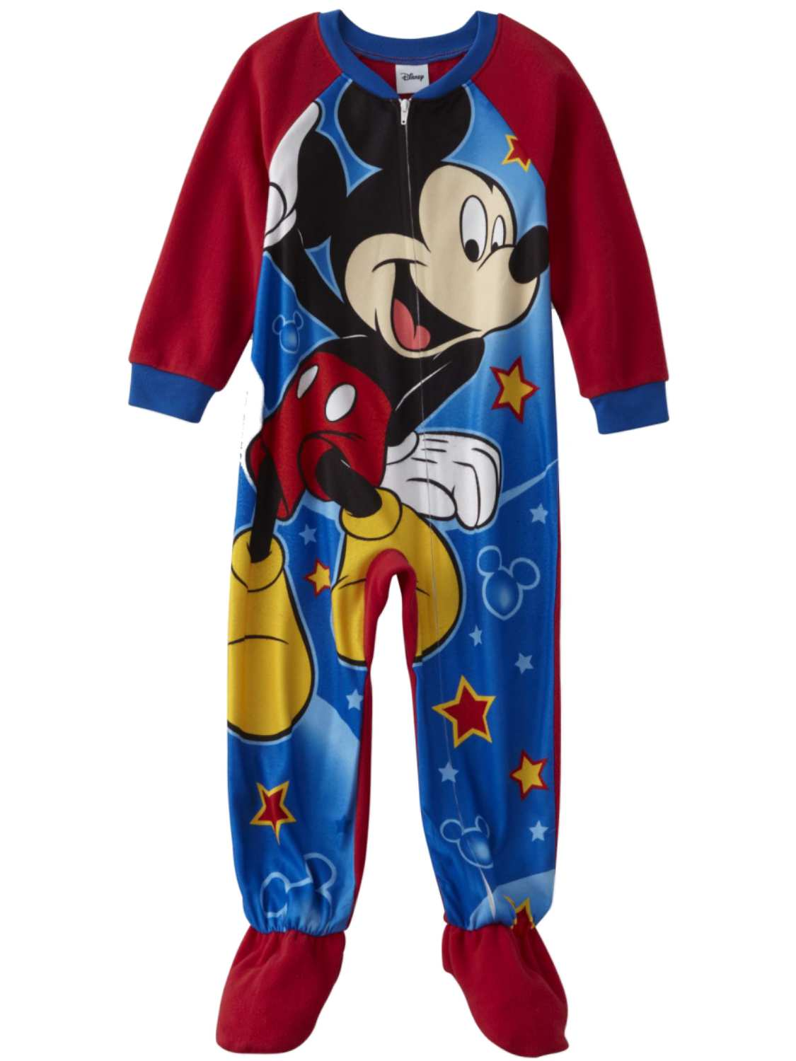 Disney Toddler Boys Red Fleece Mickey Mouse Sleeper Pajamas