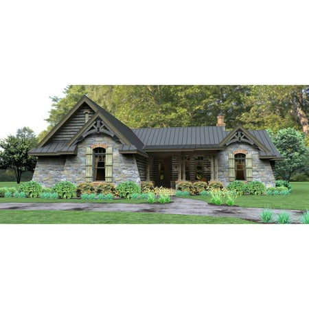 TheHouseDesigners-4514 Construction-Ready Cottage Lake House Plan with Slab Foundation (5 Printed