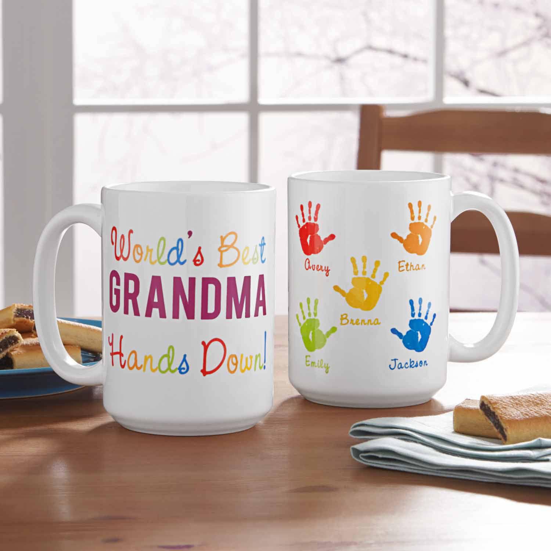Personalized Hands Down 15oz Coffee Mug