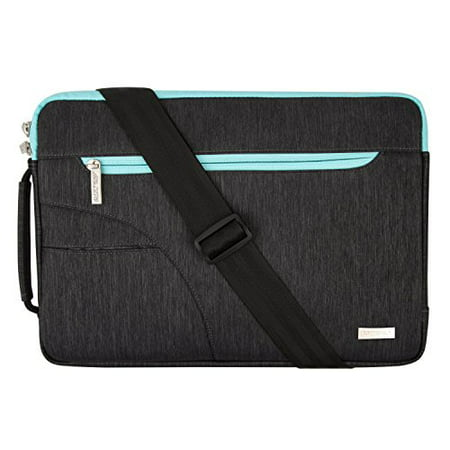 Laptop Shoulder Bag Briefcase, Sleeve Cover Polyester 11-11.6 Inch Carry Case for Acer Chromebook 11 / HP Stream 11 / Samsung Chromebook 2 / Notebook Computer / MacBook Air, Black Leather Ladies Notebook Case