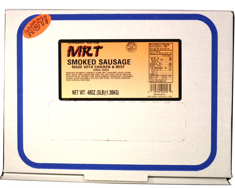 Mr. T Hot Smoked Sausage, 48 Oz   Walmart.com