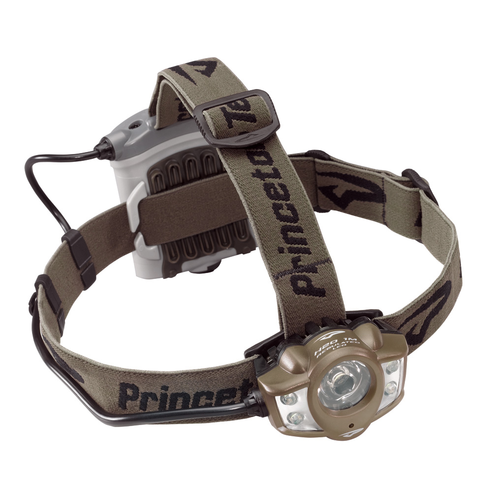 Princeton Tec 260 Lumens Apex Headlamp, Black with Red LED