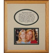 8X10 Mommy's Girl Picture & Poetry Photo Gift Frame ~ Cream/Hunter Green Mat ~ Heartfelt Keepsake Picture Frame For Mom From Her Little Girl On Mother's Day, Christmas, Birthday Or Valentines Day!