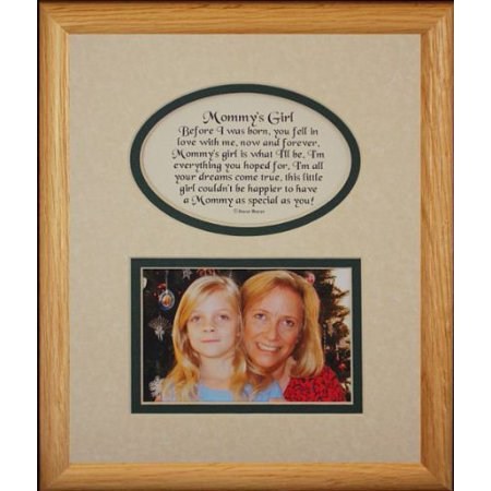 Little Girl Christmas Photo Ideas (8X10 Mommy's Girl Picture & Poetry Photo Gift Frame ~ Cream/Hunter Green Mat ~ Heartfelt Keepsake Picture Frame For Mom From Her Little Girl On Mother's Day, Christmas, Birthday Or)
