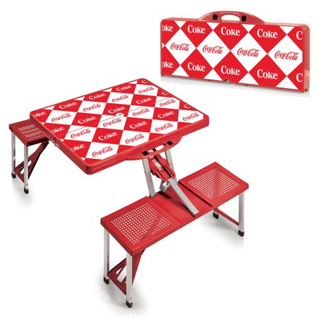Picnic Time CocaCola Picnic Table Sport Portable Folding Table With - Triangle picnic table