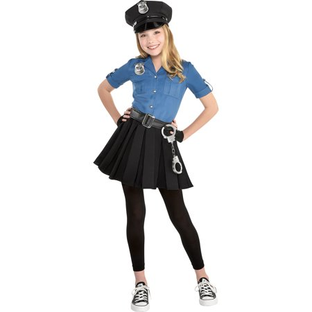 Police Girl Halloween (Police Dress Halloween Costume for Girls, 2T, with)