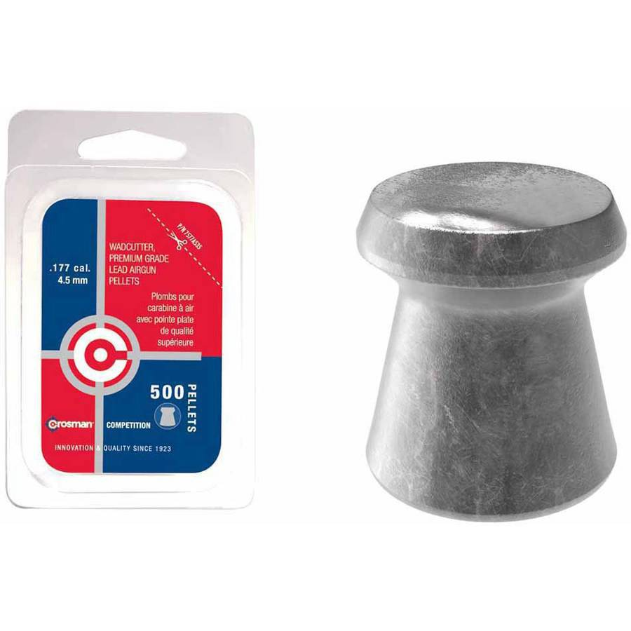 Crosman Wadcutter .177 Caliber 7.4gr Airgun Pellets, 500ct