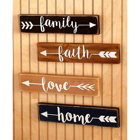 4 Wall Plaques - The Lakeside Collection Set of 4 Wall Plaques