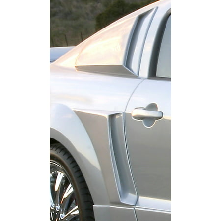 Mustang Xenon Side Scoops - Xenon 12128 Body C-Scoop; Right Side; Urethane;
